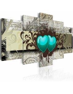 Tableau - 5 tableaux - Frozen hearts - par Artgeist