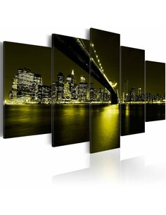 Tableau - 5 tableaux - Unforgettable night in New York City - par Artgeist
