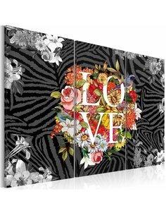 Tableau FLOWERS FROM THE HEART - par Artgeist