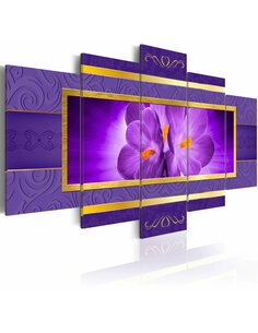 Tableau - 5 tableaux - Welcome Spring Fleurs variées Artgeist