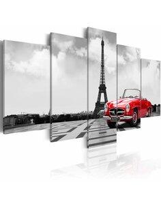 Tableau - 5 tableaux - Voiture parisienne Paris Artgeist