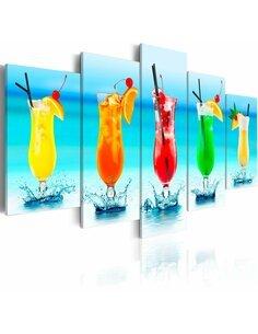 Tableau - 5 tableaux - Holiday cocktails - par Artgeist