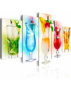 Tableau - 5 tableaux - Rainbow drinks - par Artgeist
