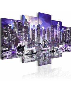 Tableau MOONLIT NIGHT IN NEW YORK CITY - par Artgeist