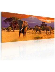 Tableau MARCH OF AFRICAN ELEPHANTS - par Artgeist