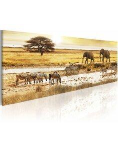 Tableau AFRICA: AT THE WATERHOLE - par Artgeist