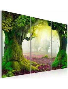 Tableau MYSTERIOUS FOREST Triptyque - par Artgeist