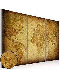 Tableau OLD MAP: TRIPTYCH - par Artgeist