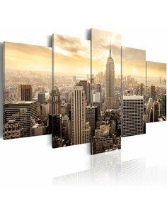 Tableau NEW YORK ET LEVER DE SOLEIL - par Artgeist