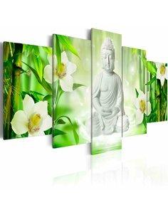 Tableau - 5 tableaux - Buddha and jasmine Zen Artgeist