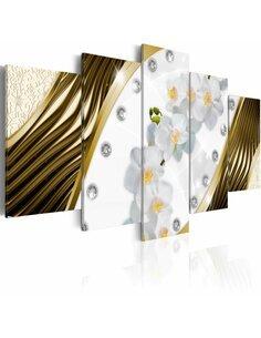 Tableau GOLDEN ORCHIDS - par Artgeist
