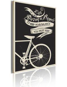 Tableau LIFE IS LIKE RIDING A BICYCLE... - par Artgeist