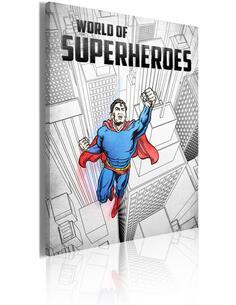 Tableau World Of Superheroes  Art urbain Artgeist