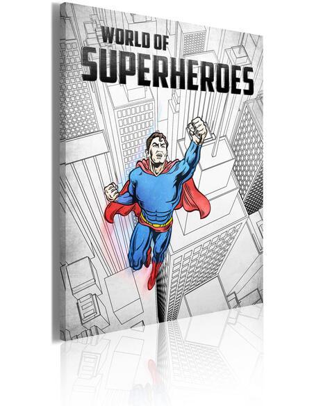 Tableau WORLD OF SUPERHEROES - Art urbain par Artgeist