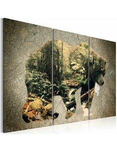 Tableau THE BEAR IN THE FOREST - par Artgeist