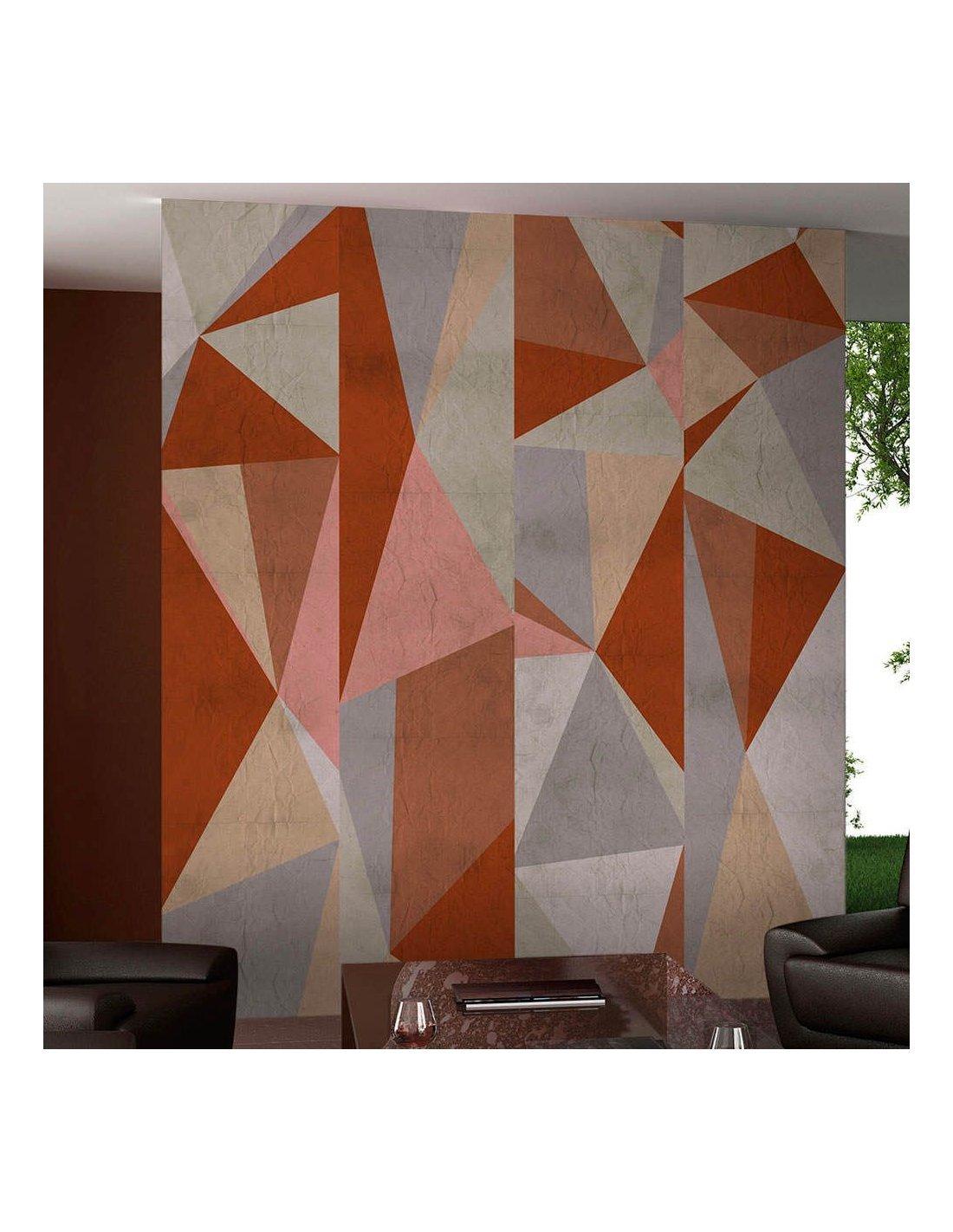 Papier Peint Triangles Composition A 64 90 Chez Recollection
