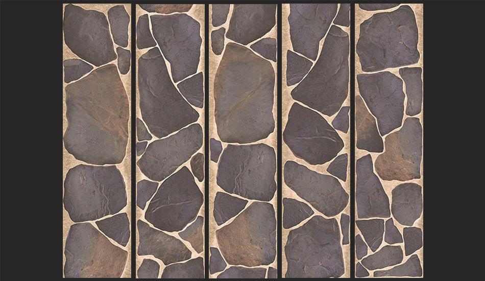 papier peint rochers en mosaique 64 90 chez recollection. Black Bedroom Furniture Sets. Home Design Ideas