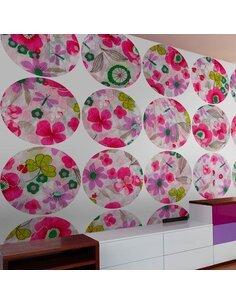 Papier Peint Pink Meadow Circle  Papiers peints Deko Panels Artgeist