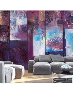 Papier peint WINTER EVENING ABSTRACT - par Artgeist