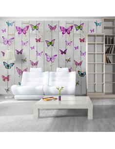 Papier peint BUTTERFLIES AND CONCRETE - par Artgeist