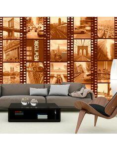 Papier Peint New York Collage (Sepia)  Papiers peints Deko Panels Artgeist