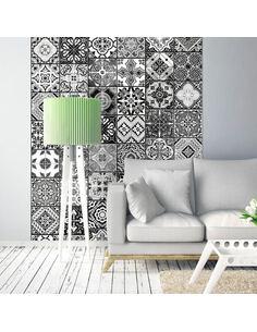 Papier peint ARABESQUE BLACK& WHITE - par Artgeist