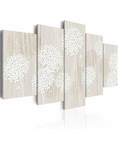 Tableau - 5 tableaux - Nature délicate Fleurs variées Artgeist