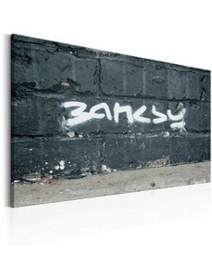 Tableau SIGNATURE DE BANKSY - par Artgeist