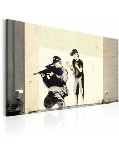 Tableau Sniper And Child By Banksy  Art urbain Artgeist