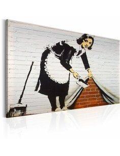 Tableau MAID IN LONDON BY BANKSY - par Artgeist