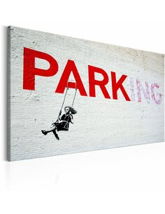 Tableau PARKING GIRL SWING BY BANKSY - par Artgeist