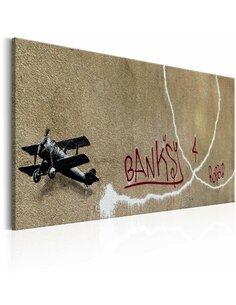 Tableau LOVE PLANE BY BANKSY - par Artgeist