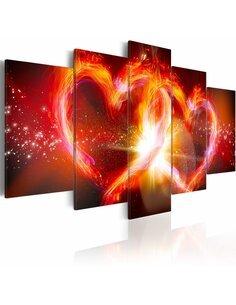 Tableau - 5 tableaux - The fire of love - par Artgeist