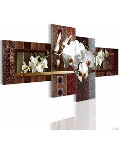 Tableau - 4 tableaux - Elegant orchid - par Artgeist