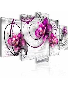Tableau - 5 tableaux - Orchids and Pearls Orchidées Artgeist