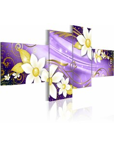 Tableau - 4 tableaux - Lilac spell - par Artgeist