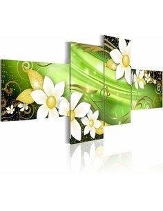 Tableau - 4 tableaux - Forest spell Fleurs et plantes Artgeist