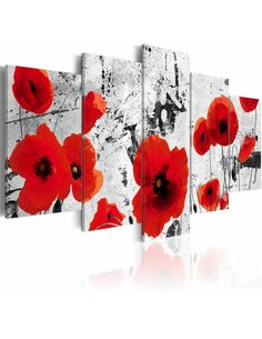 Tableau SCARLET FLOWERS - par Artgeist