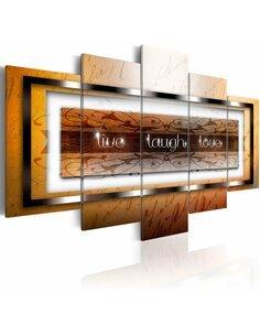 Tableau - 5 tableaux - Live, laugh, love Abstractions Artgeist