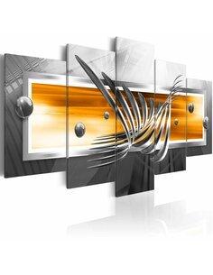Tableau - 5 tableaux - Platinum flight Abstractions Artgeist