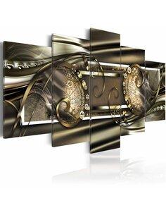 Tableau - 5 tableaux - Golden beans Modernes Artgeist