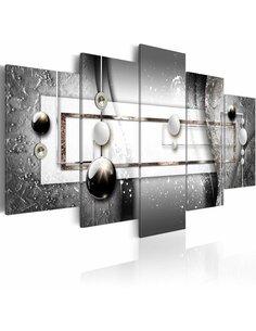 Tableau - 5 tableaux - Grey Symmetry Modernes Artgeist
