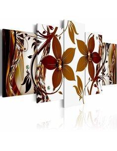 Tableau - 5 tableaux - Autumn dance Fleurs et plantes Artgeist