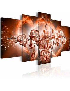 Tableau - 5 tableaux - Love orchids Orchidées Artgeist