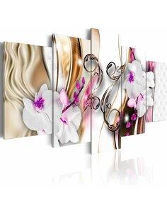 Tableau ORCHIDS: PINK FLOWERS - par Artgeist