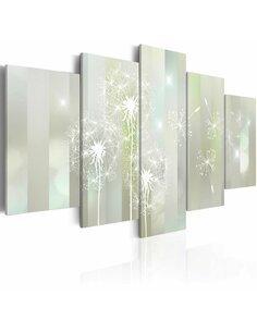 Tableau - 5 tableaux - Emerald Spell Fleurs variées Artgeist