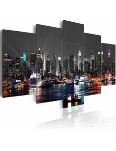 Tableau - 5 tableaux - Grey sky New York Artgeist