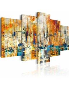 Tableau - 5 tableaux - Mémoire de la cité Abstractions Artgeist