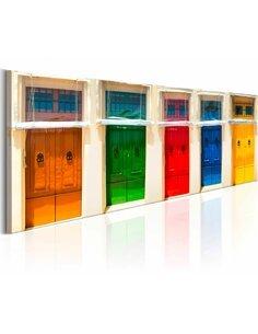 Tableau COLOURFUL DOORS - par Artgeist