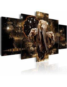 Tableau BROWN ELEPHANTS - par Artgeist